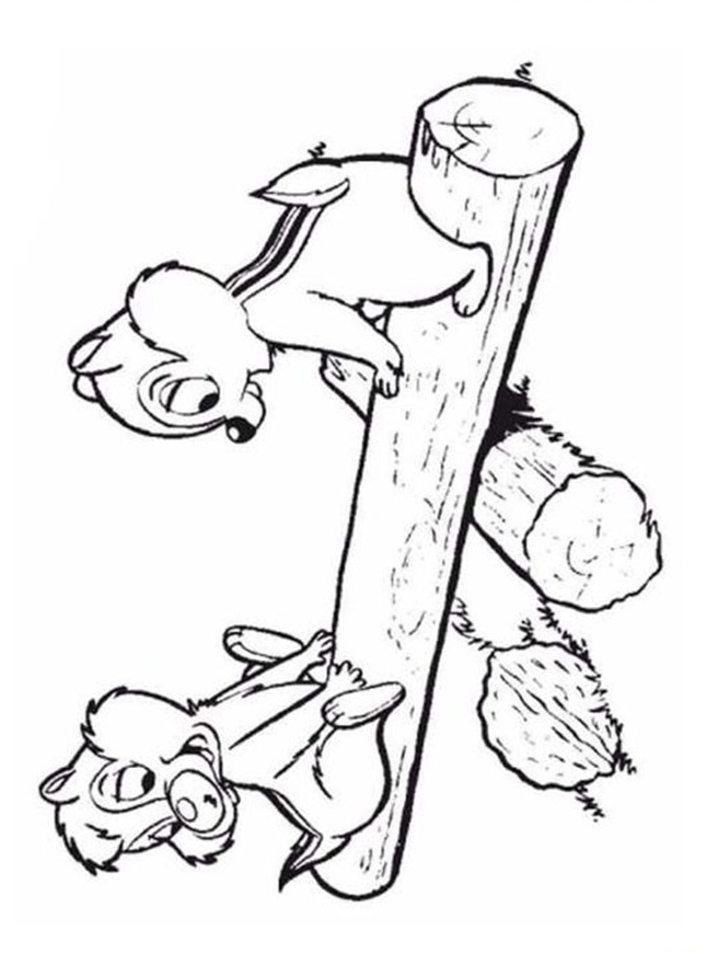 Kidsnfuncouk 35 coloring pages of Chip and Dale