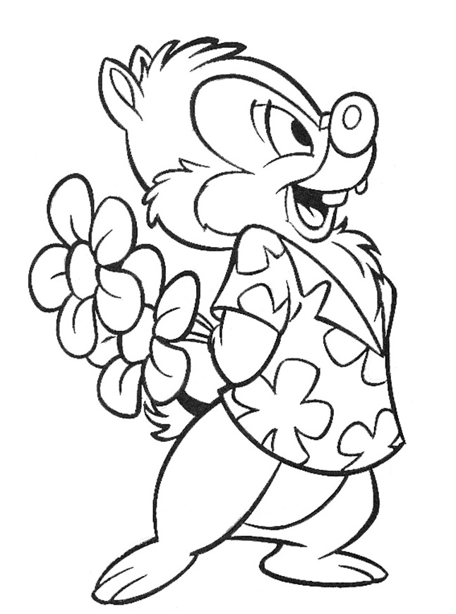 n 35 coloring pages of chip and dale