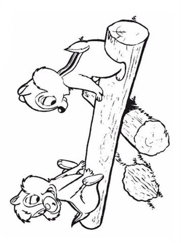Free Printable Chip And Dale Coloring Pages, Download Free Clip ... | 481x357