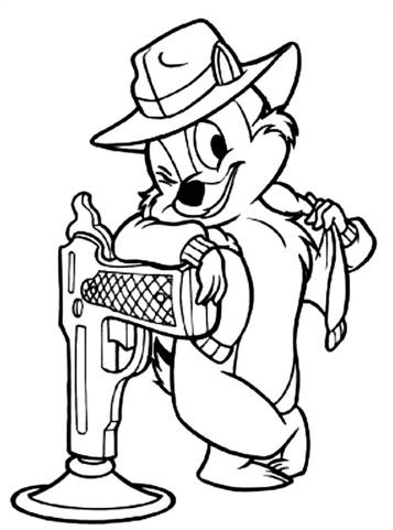 Chip Potts, Beauty and the Beast coloring page | Coloring pages | 481x357