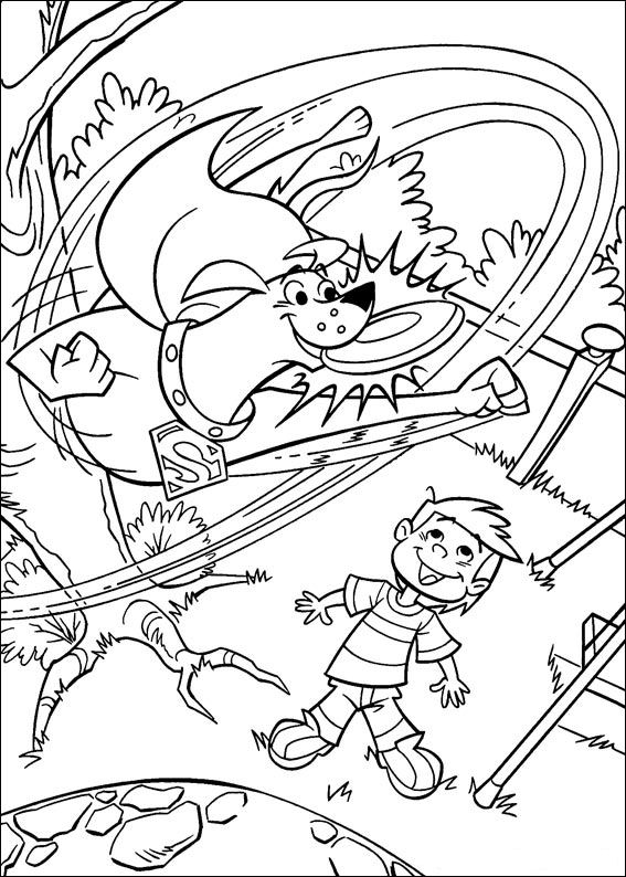krypto the superdog coloring pages | Kids-n-fun.com | Coloring page Krypto the Superdog Krypto ...