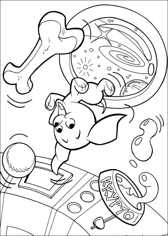 krypto the superdog coloring pages | Kids-n-fun.com | 32 coloring pages of Krypto the Superdog