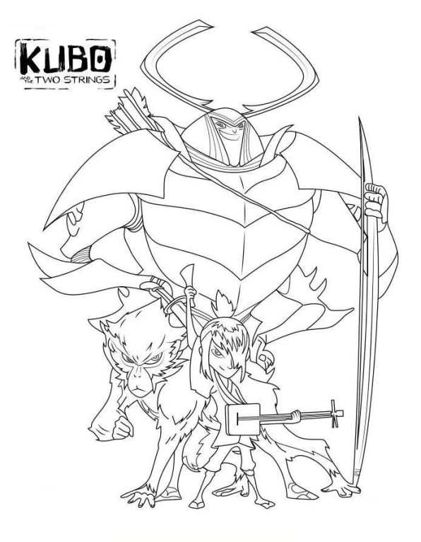Kubo And The Two Strings Coloring Page