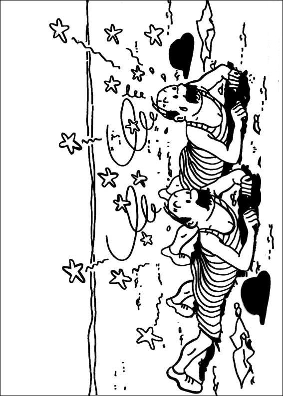 Kidsnfun 20 coloring pages of Tintin
