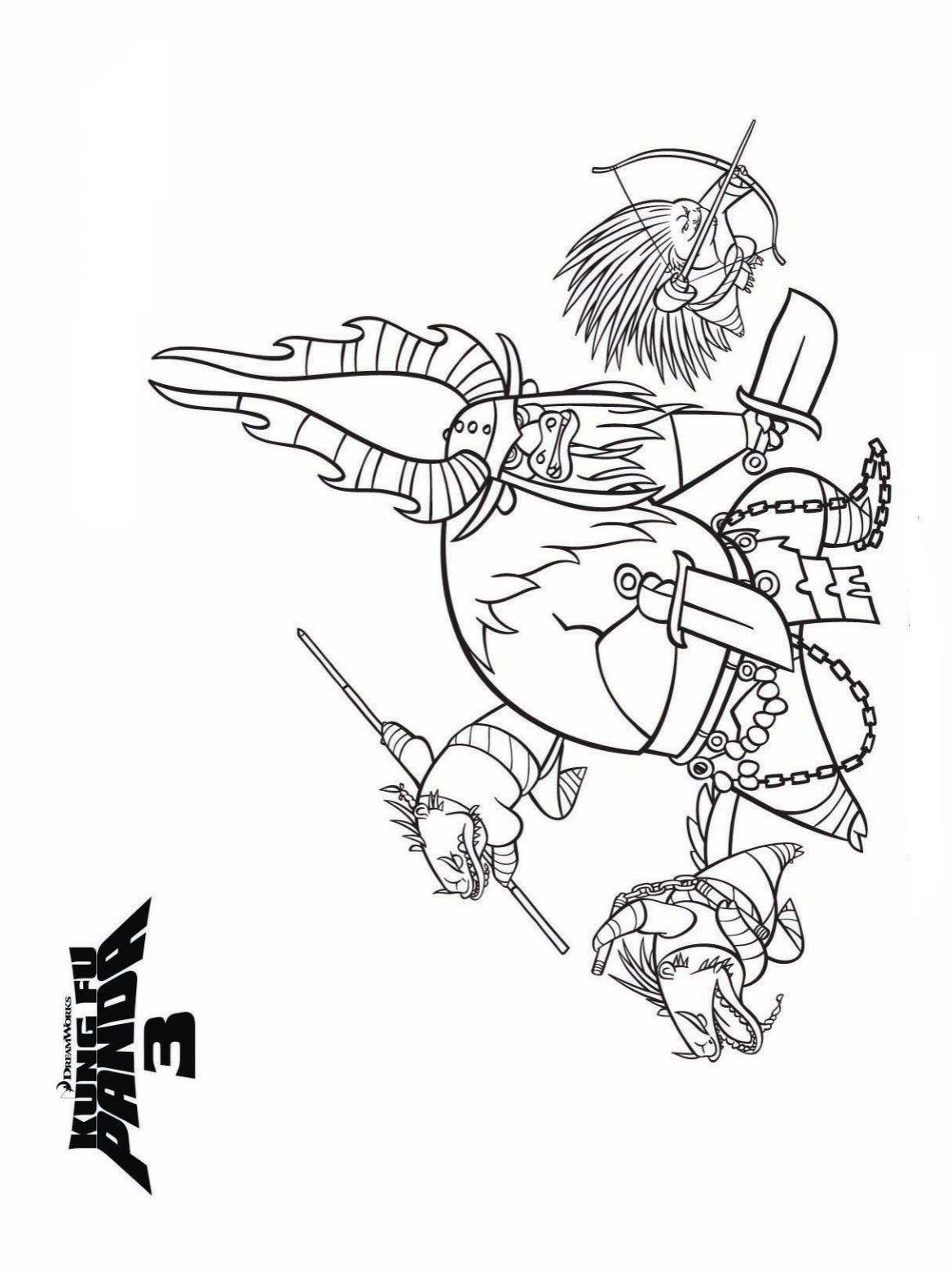 kidsnfun  coloring page kung fu panda 3 kung fu panda 3
