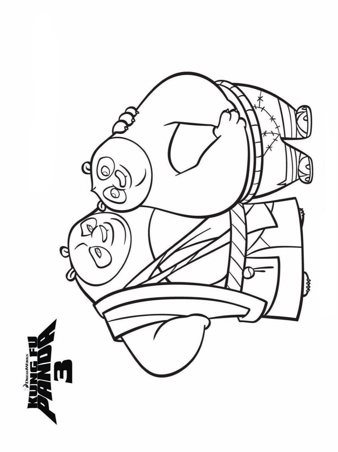 Kung Fu Panda Coloring Pages Kidsnfun  7 Coloring Pages Of Kung Fu Panda 3