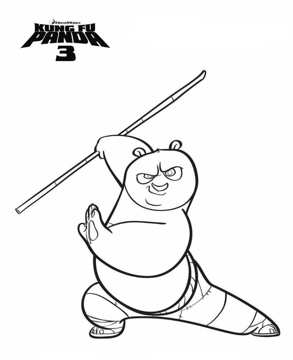 7 kung fu panda 3 coloring pages - Panda Pictures To Color