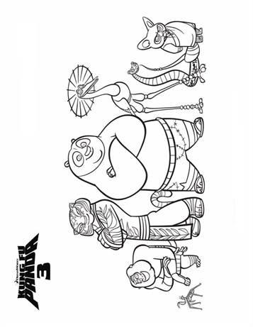 KUNG FU PANDA coloring pages - 36 Kung Fu Panda online coloring ... | 461x357