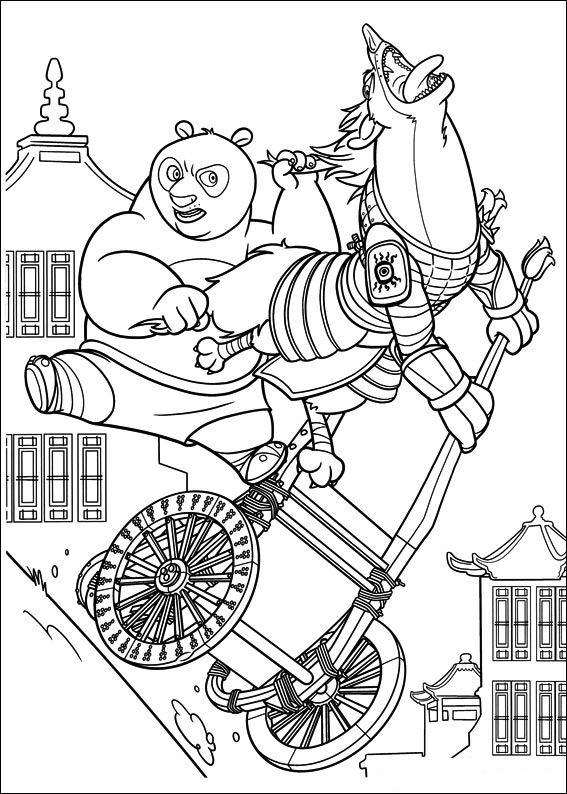 Kids N Fun Com Coloring Page Kung Fu Panda 2 Kung Fu Panda 2