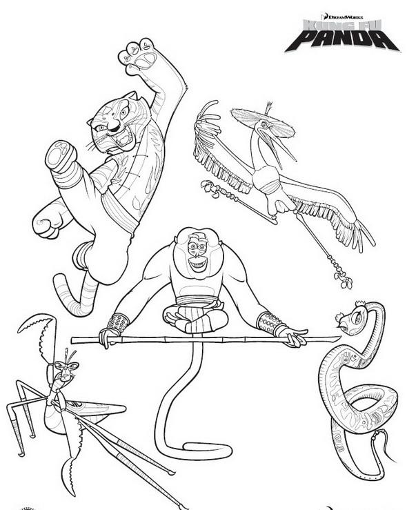 Kids-n-fun.co.uk | 10 coloring pages of Kung Fu Panda
