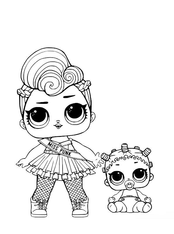 Kidsnfun Coloring Page Lol Surprise Dolls Rhkidsnfun: Lol Surprise Coloring Pages Lil Sisters At Baymontmadison.com