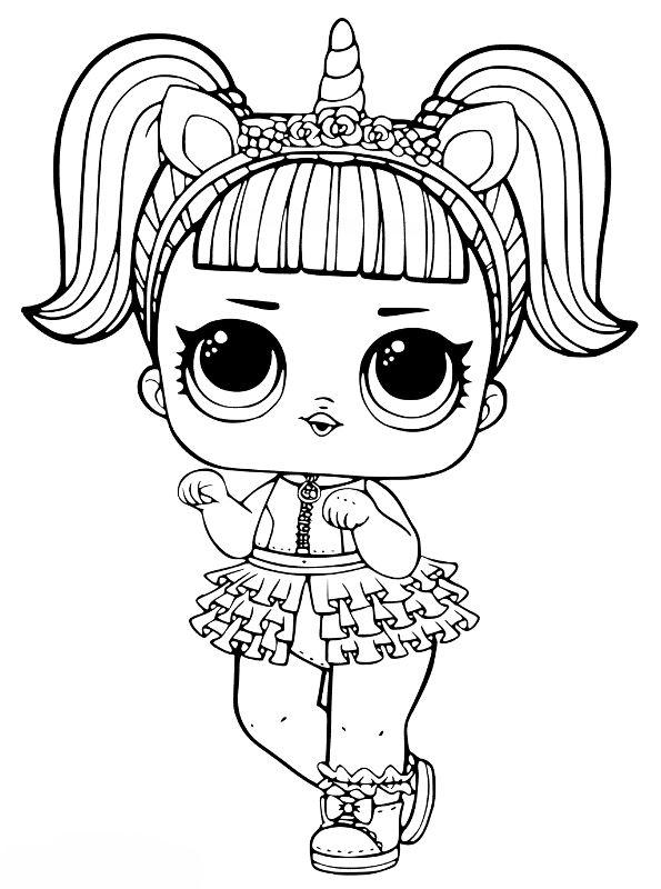 Kids N Fun Com Coloring Page L O L Surprise Dolls Unicorn