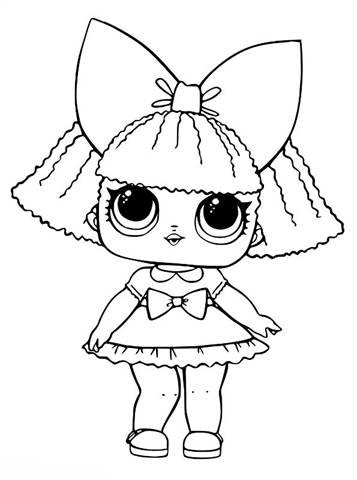 Kids N Fun Com 30 Coloring Pages Of L O L Surprise Dolls
