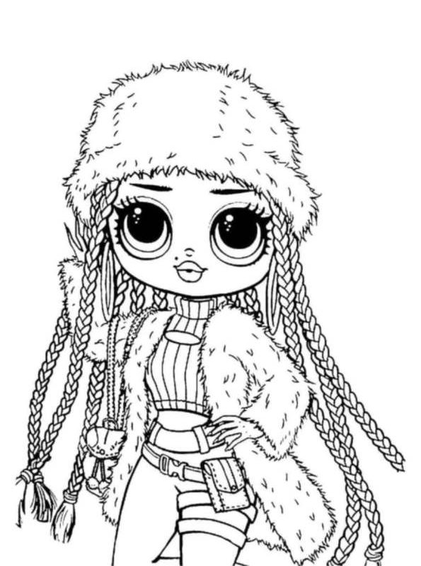 Kids-n-fun.com Coloring Page L.O.L. Surprise OMG Dolls Snowlicious