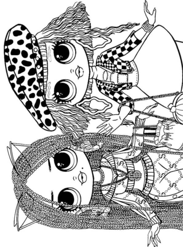 Kids N Fun Com Coloring Page L O L Surprise Omg Dolls Swag Neon