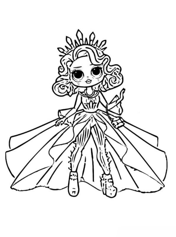 Kids-n-fun.com Coloring Page L.O.L. Surprise OMG Dolls Lol Surprise Doll  Omg 2