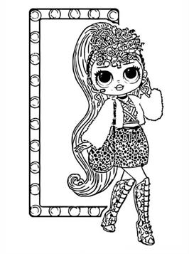 Kids N Fun Com 12 Coloring Pages Of L O L Surprise Omg Dolls