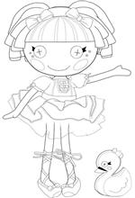 lalaloopsy coloring pages jewel sparkles doll | Lalaloopsy Coloring Pages