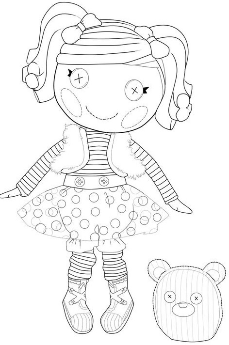 16 lalaloopsy coloring pages - Lalaloopsy Coloring Pages