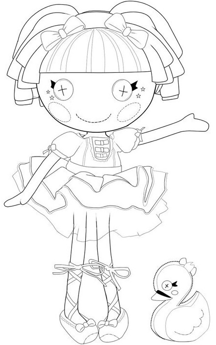 kidsnfun   coloring pages of lalaloopsy, coloring
