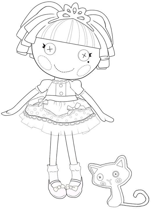 lalaloopsy coloring pages jewel sparkles doll | Kids-n-fun.com | 16 coloring pages of Lalaloopsy