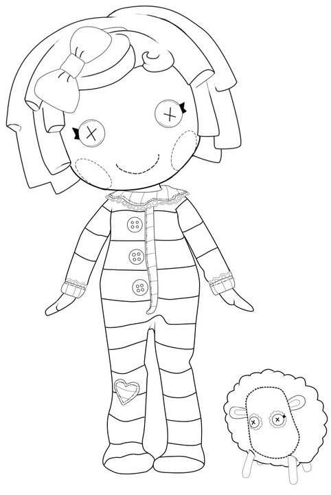 Kidsnfuncom 16 coloring pages of Lalaloopsy