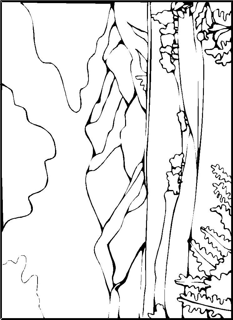 10 landscapes coloring pages - Landscape Coloring Pages