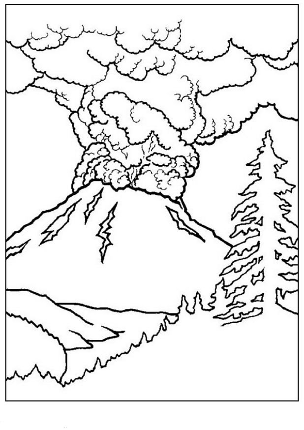 Kids n 10 coloring pages of landscapes - Coloriage paysage ...