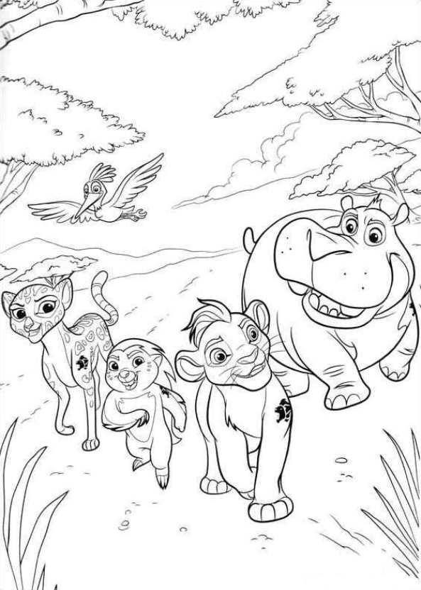 Kidsnfun 19 coloring pages of Lion guard