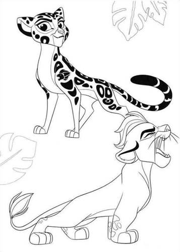 Kids N Fun Com 19 Coloring Pages Of Lion Guard