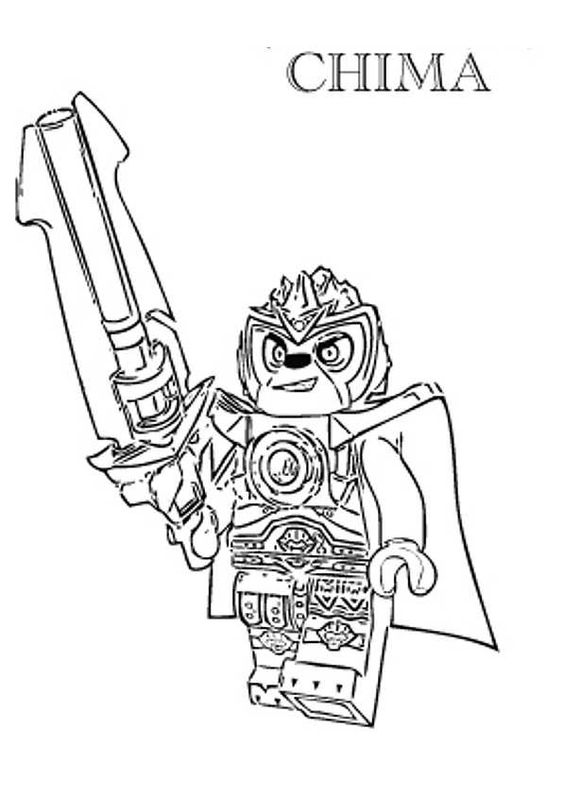 Kids n funcom 15 coloring pages of Lego Chima