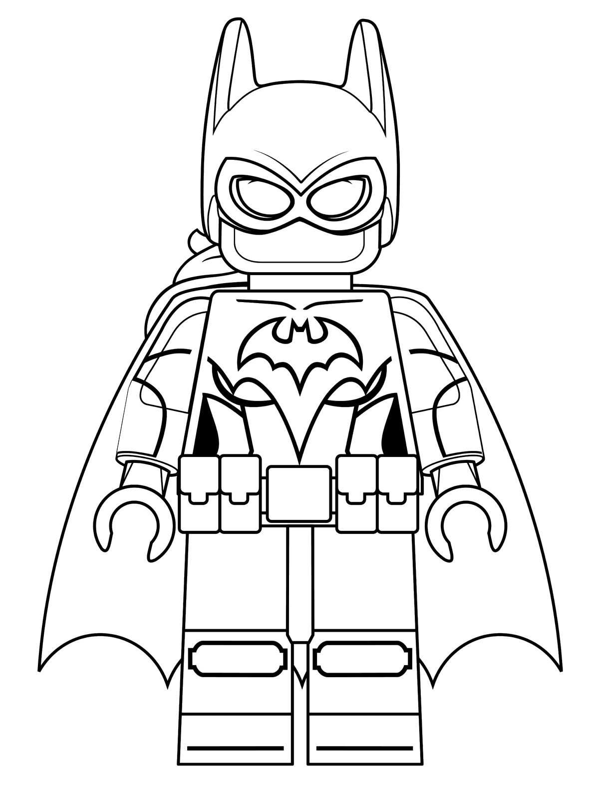 Coloring pages lego batman - Lego Batgirl