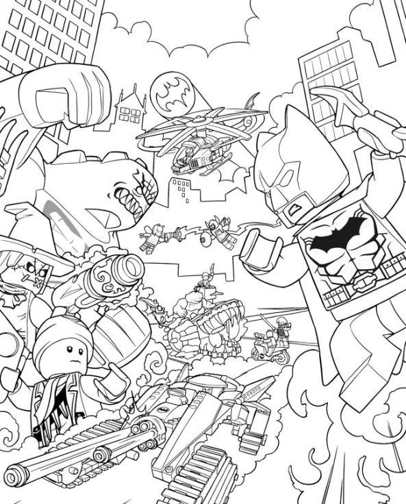 Malvorlagen Lego Badman My Blog