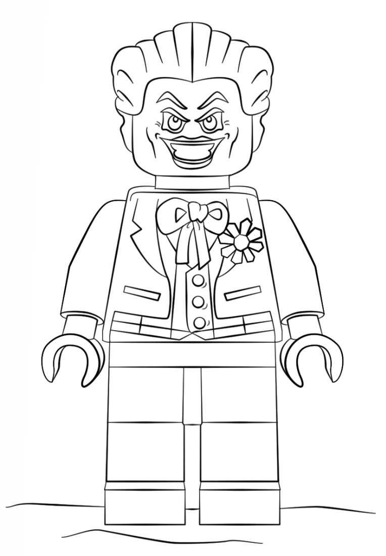 Printable coloring pages lego batman - Lego Joker