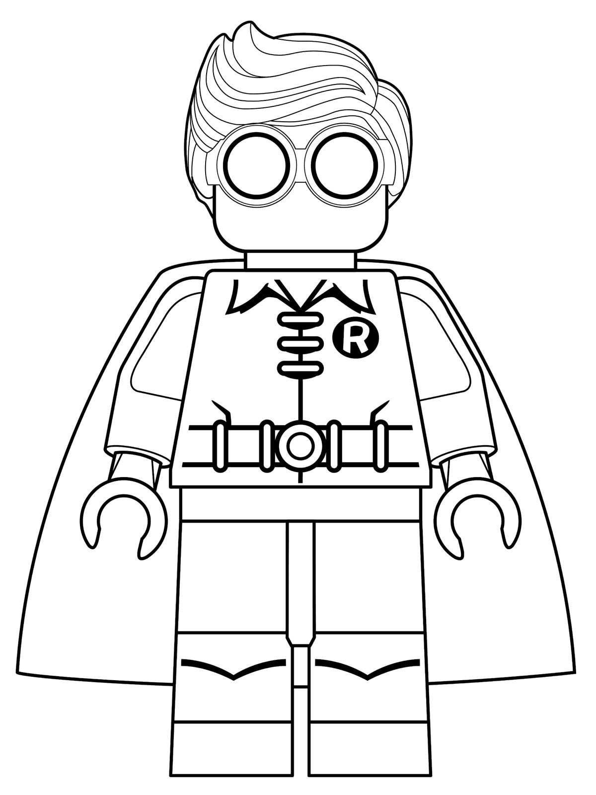 Coloring pages lego batman - Robin