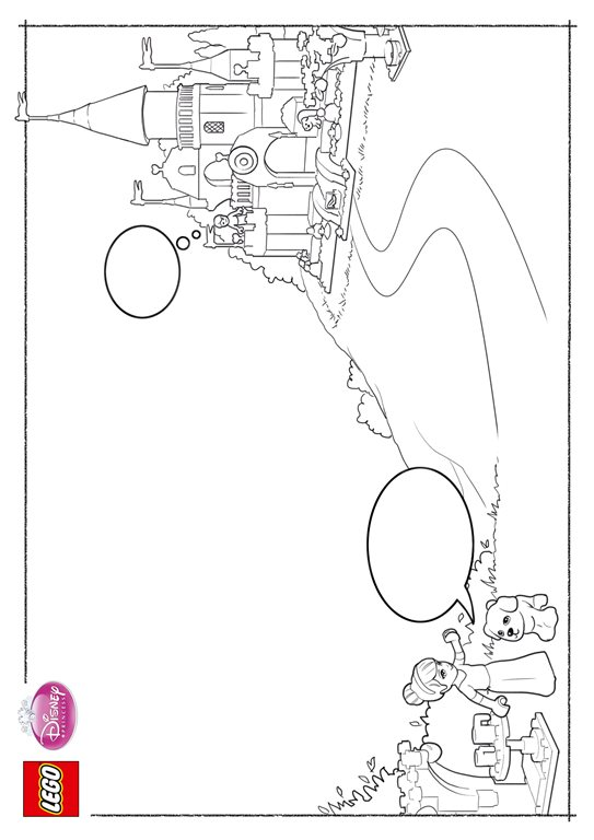 Kids N Fun Com 11 Coloring Pages Of Lego Disney Princesses