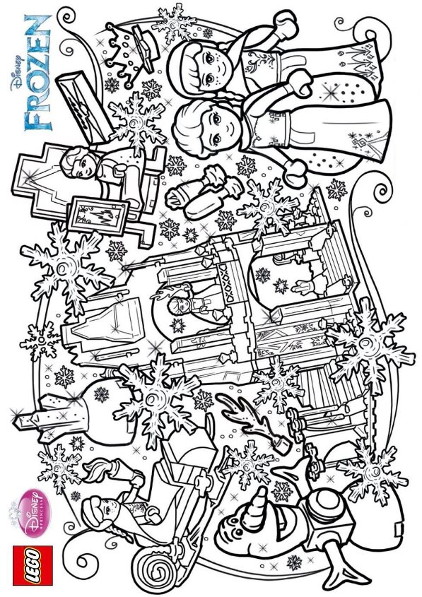 Coloring Pages Lego Frozen : Knights and princesses coloring pages