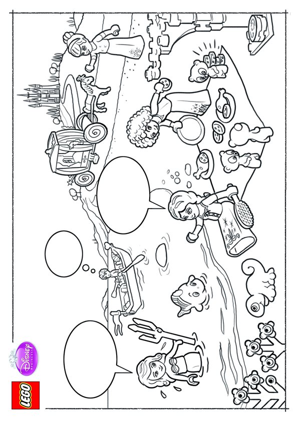 Kids N Fun Co Uk 11 Coloring Pages Of Lego Disney Princesses