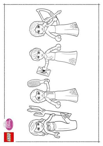 Kids N Fun Com 11 Coloring Pages Of Lego Disney Princesses