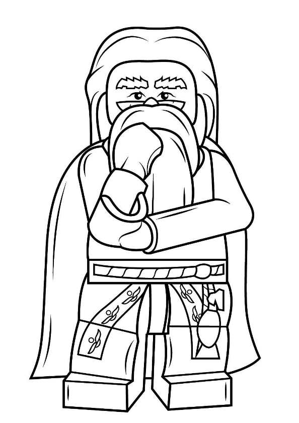 Kids N Fun Com Coloring Page Lego Harry Potter Albus Dumbledore