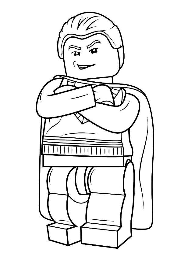 Kids N Fun Com Coloring Page Lego Harry Potter Draco Malfoy