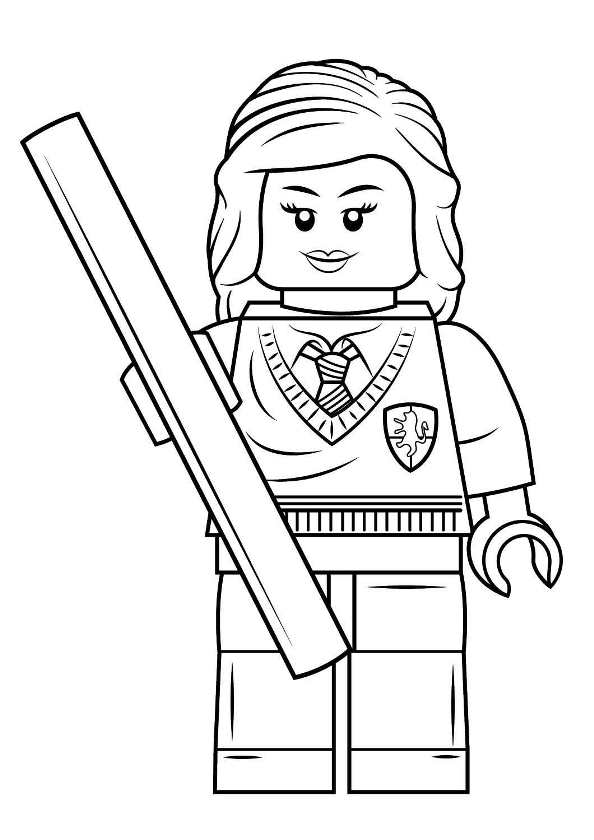 Kids N Fun Com Coloring Page Lego Harry Potter Hermione Granger