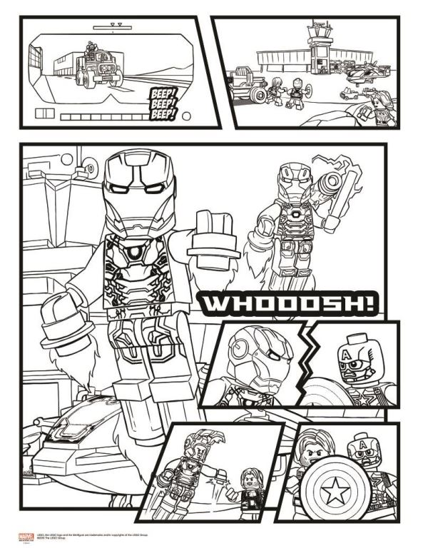 15 lego marvel avengers coloring pages - Coloring Pages Lego Superheroes