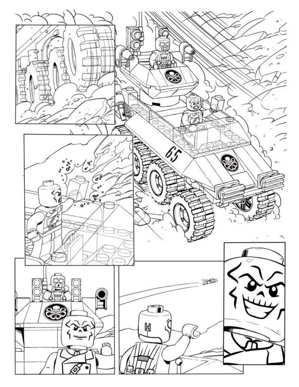 15 lego marvel avengers coloring pages