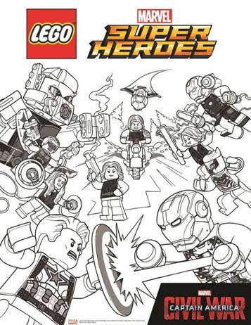 Kids N Fun Co Uk 15 Coloring Pages Of Lego Marvel Avengers