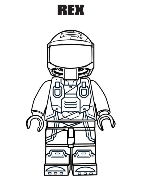 Kids-n-fun.com | Coloring page Lego movie 2 Rex