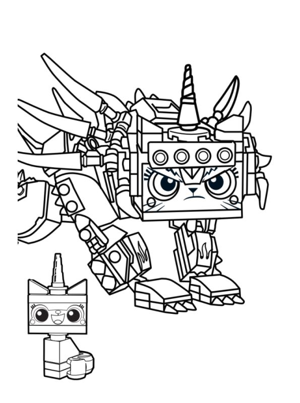 Kids-n-fun.co.uk | 13 Coloring pages of Lego movie 2