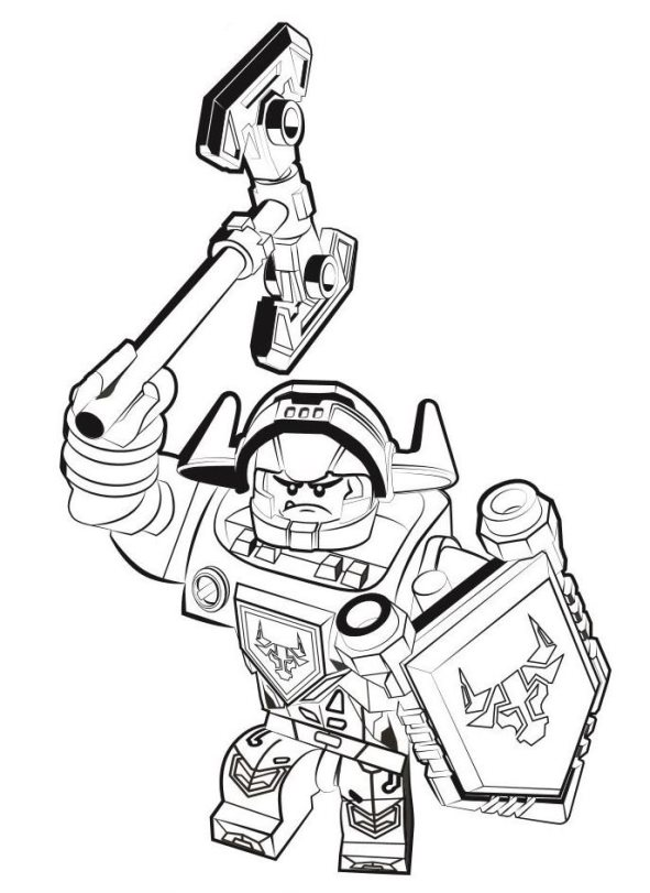 Kids n funcom 29 coloring pages of Lego Nexo Knights