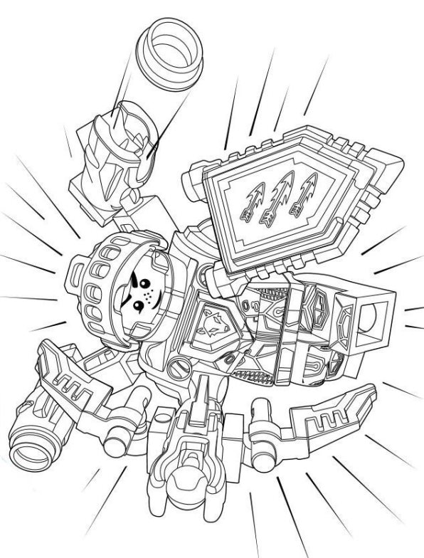 foto de Kids-n-fun.com | Coloring page Lego Nexo Knights lego nexo knights 7