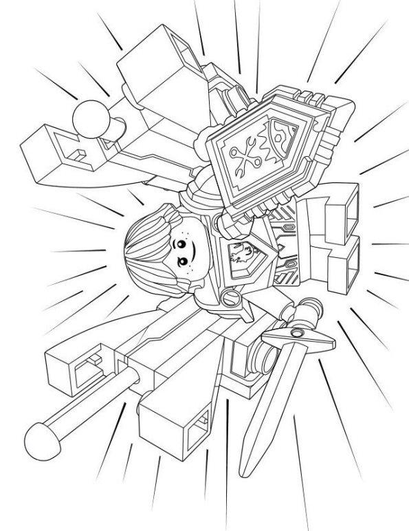 Kleurplaten Lego Nexo Knights.Kids N Fun Com Lego Nexo Knights 8